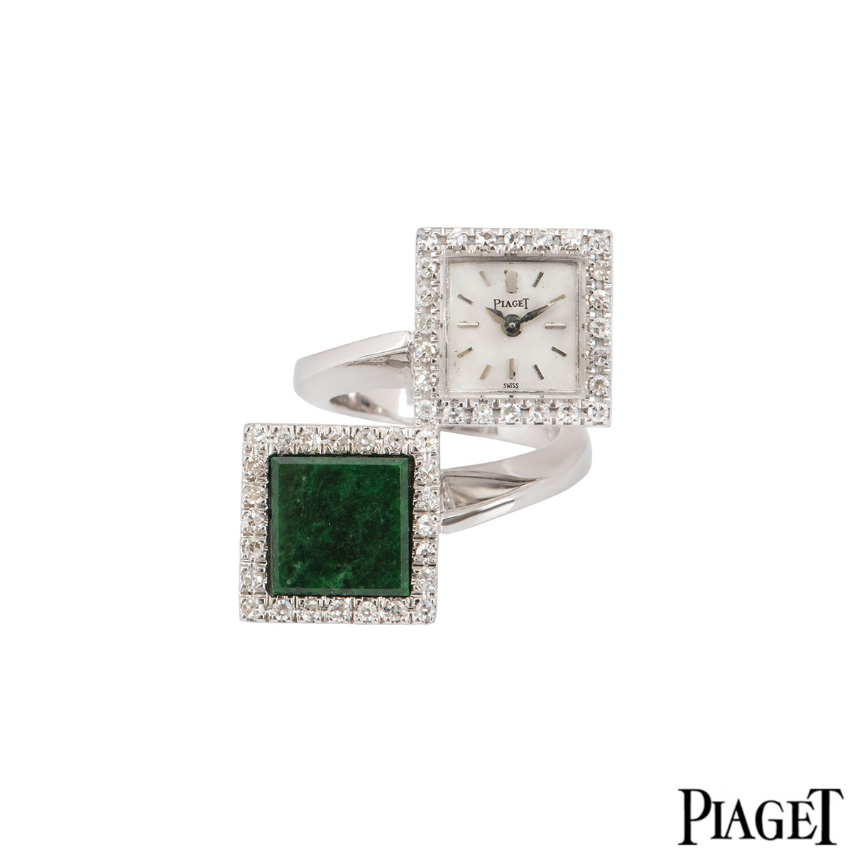 Piaget Platinum Diamond Ring Watch